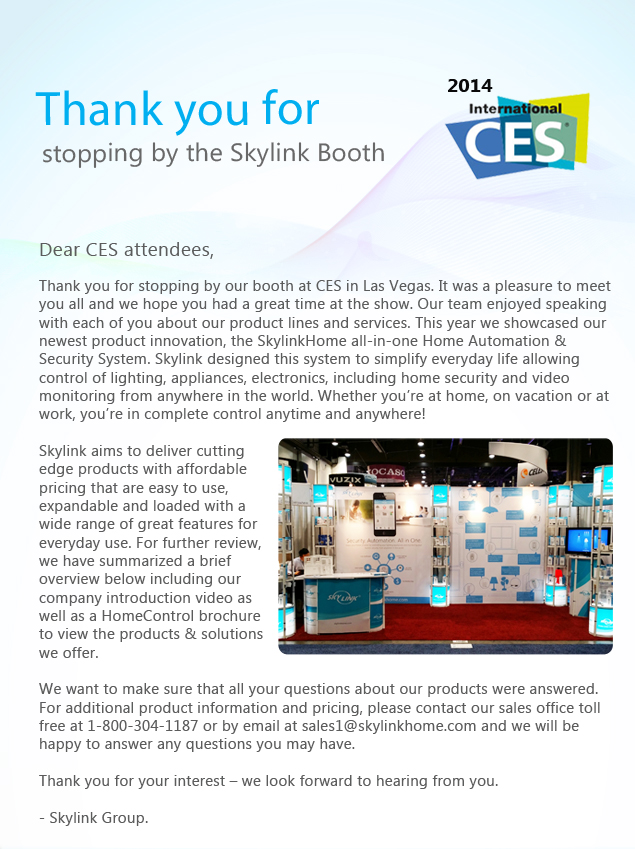 Skylink News Ces Thank You