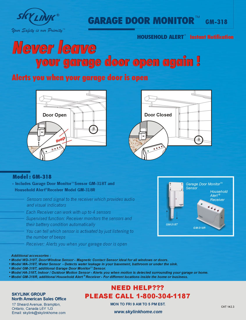 Promotional Materials Skylinkhomecom Overhead Door Wiring Diagram Gm 3 1 Window Alert Garage Monitor